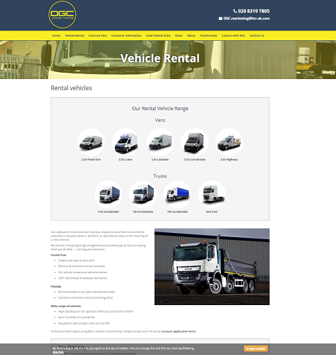 New website for DGC customers